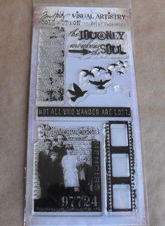 Tim Holtz Stamps Clear set Vintage  for Card by ThePaperPeddler, $10.00