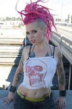 punk pink 'hawk