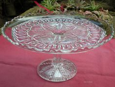 Antique EAPG Pedestal Cake Stand Yoke & by 4HollyLaneAntiques, $68.00