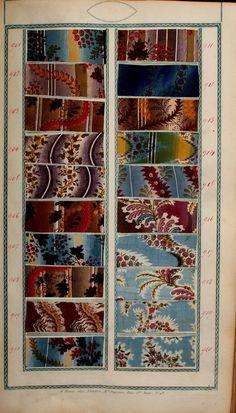 [Book of samples], Fortin, Paris, 1825 Textile Patterns, Textile Design, Fabric Design, Print Patterns, Antique Quilts, Vintage Textiles, Vintage Quilts, Century Textiles, Textiles Techniques
