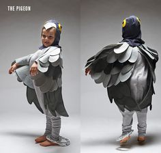 LADYLAND TERRORS OF LONDON - Kids halloween costumes - The pigeon... argh! www.thisisladyland.com Photographer: Dee Ramadan Art Director: Emma Scott-Child