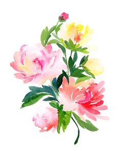 Chrysanthemums Bouquet Art Print. Tattoo idea