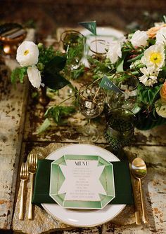 so loving this menu // creative wedding menu by Prim and Pixie // photo by Raya Carlisle Great Gatsby Themed Wedding, Wedding Menu, Wedding Events, Wedding Reception, Wedding Invitations, Wedding Ideas, Themed Weddings, Reception Table, Wedding Catering