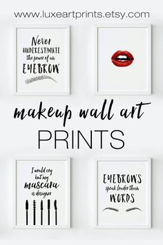 Makeup Wall Art Printables https://www.etsy.com/shop/LuxeArtPrints
