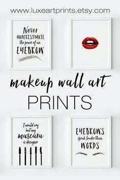 Makeup Wall Art Printables https://www.etsy.com/shop/LuxeArtPrints