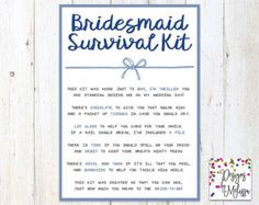 Groom's Wedding Day Survival Kit  Groom Gift from Bride