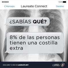 ¿Sabes cuántas #costillas tienes? #DatoInteresante #Medicina #Ciencia #Laureate