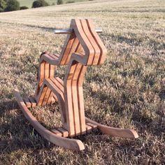 Holz-Schaukelpferd // wooden rocking-horse via DaWanda.com