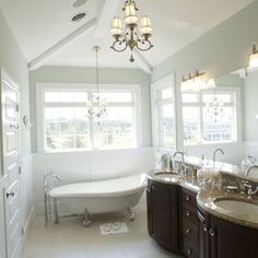 Master Bath: Sherwin Williams Sea Salt - Powder room