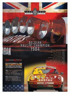 Goodwood Bastos poster Porsche 911, Porsche Carrera, Goodwood Fos, Goodwood Festival Of Speed, Motosport, Car Posters, Automotive Art, Festival Posters, Rally Car