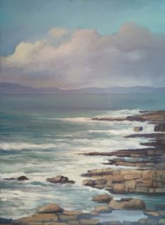 Plein Air study of the in-coming tide at Creevy, County Donegal, Ireland. oil on canvas panel, Wild Atlantic Way, Donegal, Art Paintings, Insta Art, Oil On Canvas, Ireland, Study, Artist, Painted Canvas