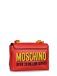 MOSCHINO SPECIAL EDITION FW14 - CAPSULE COLLECTION SMALL LEATHER BAG - LUISAVIAROMA - #jeremyscott