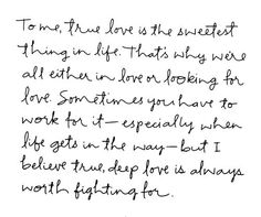 love is always worth fighting for...