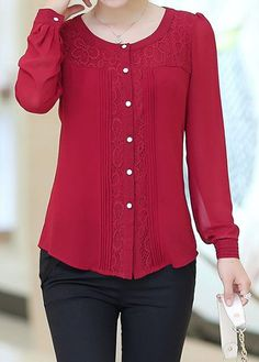 women's blouses, trendy blouses for women with competitive price Old Shirts, Feminine Style, Feminine Fashion, Blouse Online, Embroidered Blouse, Dress Patterns, Shirt Blouses, Blouses For Women, Tunic Tops