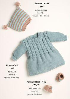 Modèles tricotés dans la laine CHEVAL BLANC. Qualités : POULINETTE et TOBIANE http://www.laines-cheval-blanc.com/fr/modele-tricot/415-modele-bonnet-et-chaussons-cb15-41-43-patron-tricot-gratuit.html