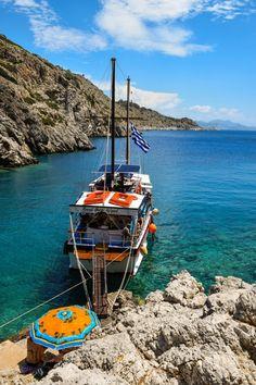 A lazy day circling the island of Symi on the Poseidon - Symi, Greece