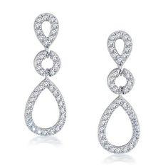 Bling Jewelry Kate Middleton Royal Wedding Teardrop Silver CZ Chandelier Earrings: Jewelry: Amazon.com $30.00