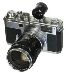 #Nikon #S3 Circa 1958 with a 105mm Lens and matched 105mm auxiliary viewfinder.  The Nikon S3 was introduced in 1958 as a replacement for the Nikon S2, incorporating some of the advances of the Nikon SP, but targeted at the high-end consumer market.   The Nikon F was adapted from the mechanics, case, and features of the S3. More Nikons at: http://www.web4homes.com/cameras/nikon.htm