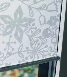 as shown: roller shades | garden | silver    http://www.theshadestore.com/product2/roller-shade-light-filtering?prcid=6453884