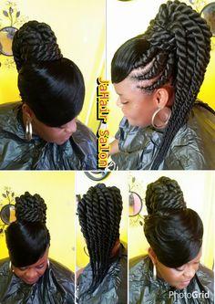 Cornrows In A Bun With Bangs Fabulous Hair Hair