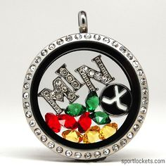 Minnesota hockey themed locket necklace from SportLockets.com. Customize this jewelry with your own letters!
