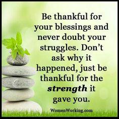 Struggles bring Strength