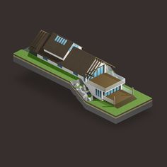 #isometric #house Isometric Art, Isometric Design, Prop Design, Game Design, 3d Cinema, Cinema 4d Tutorial, Low Poly 3d Models, Backrounds, Graphic Design Typography