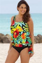d3806bec31 Plus Size Botany Bay Plus Size Blouson Tankini Botany Bay, Swimsuits For  All, Beauty