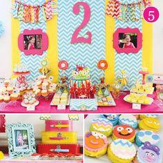 {Party of 5} Vintage Luau, Cute Halloween Party, Rainbow Time Flies, Soap Box Derby & Chevron Sesame Street