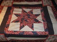Patriotic Tribute to Our American Flag Star Quilt Top | eBay