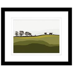 Buy Jacky Al Samarraie - Cows At Lochans, Framed Print, 44 x 54cm Online at johnlewis.com
