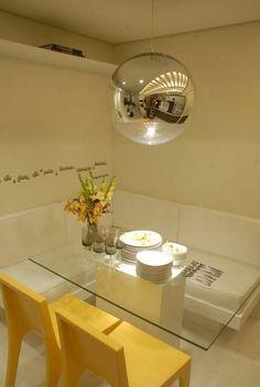 sala de jantar com banco em L                                                                                                                                                      Mais