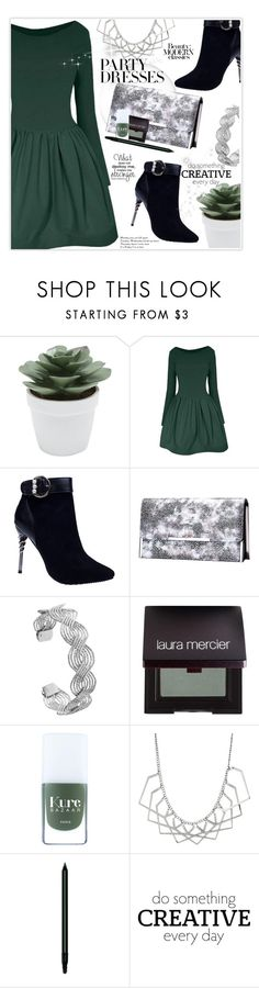 """""""#PolyPresents: Party Dresses"""" by stranjakivana ❤ liked on Polyvore featuring M&Co, Laura Mercier, John Lewis, WALL, contestentry and polyPresents"""