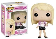 """Product Info """"Is butter a carb?"""" The Plastics get the Pop! Vinyl treatment! The Mean Girls Regina Pop! Vinyl Figure features the queen bee with her coffee and purse. Regina stands approximately 3 3/4"""