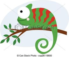 Vector - Chameleon - stock illustration, royalty free illustrations, stock clip art icon, stock clipart icons, logo, line art, EPS picture, pictures, graphic, graphics, drawing, drawings, vector image, artwork, EPS vector art