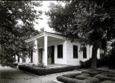 The Sunday porch-enclos*ure, French Legation, Austin TX, 1961,via Library of Congress.
