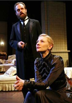 """Hugo Weaving and Cate Blanchett in """"Hedda Gabler"""" by Henrik Ibsen at BAM, New York, 2006 Cate Blanchett, Sydney Theatre Company, Dracula Costume, I Look To You, Hedda Gabler, Hugo Weaving, Movie Couples, Denzel Washington, People Change"""