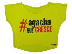 Blusas Femininas | Blusa Cropped Agacha Que Cresce Amarela  Acesse: http://www.spbolsas.com.br/atacado/ #Regatas #Femininas #Atacado