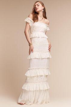Nicole Miller Ivory Luna Gown | BHLDN