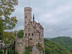 Lichtenstein Castle, Germany  The fairytale-like turrets of Lichtenstein rise up from the rocks in an almost impossible way. Situated on the very edge of a jagged gorge, Lichtenstein Castle is easily one of the most beautiful castles in Germany, if not all of Europe. Built in the Gothic Revival style, this 19th-century castle is often referred to as the 'fairytale castle of Würtemberg' and 'Lichtenstein' is quite literally translated as 'shining stone'.