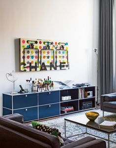 USM Haller sideboard in steel blue. www.usm.com