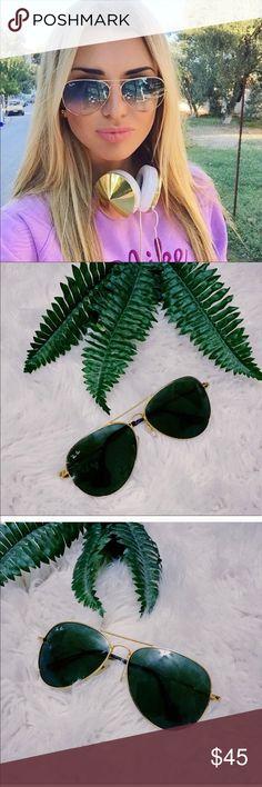 🌴 Rayban Aviator Gold Sunglasses 🌴 Rayban Aviator Gold Sunglasses Good condition Ray-Ban Accessories Sunglasses