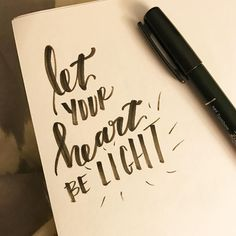 """347:: """"Let your heart be light"""" // #emletters #lettereveryday"""