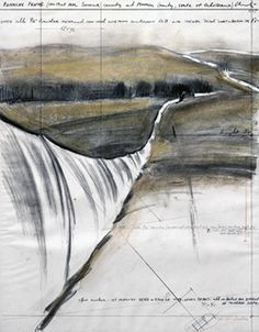 Christo & Jeanne-Claude, plans for 'Running Fence'