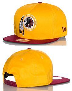 NEW ERA Football snapback cap Adjustable strap on back of hat for ultimate  comfort Embroidered Washington Redskins team logo on front 7f3b2ecb541