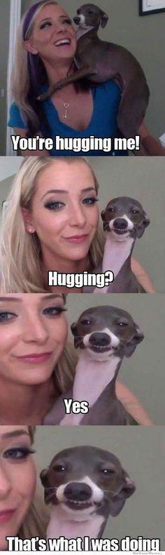 Jenna Marbles and Kermit  lololololololol!!!! i love kermet!! what rymes with hug...? :)