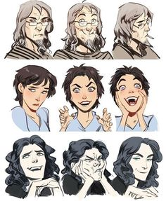 Making faces Male & Female/ Old, Adult and Teen/ Different facial features