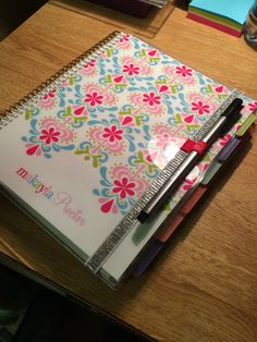 Plum Paper Student planner with Erin Condren removable cover.  The cover was custom so it cost extra.