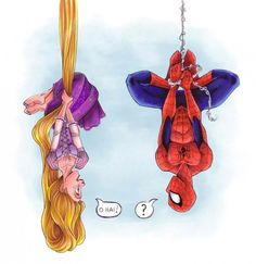 If Spider-Man met Rapunzel
