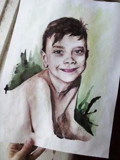 Очередной портрет. Акварель. Формат А3. #kid #thewatercolordrawing #drawing #portrait #art #artist #painter #Iamanartist #watercolor #boy The next portrait. Watercolor. A3.